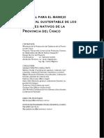 Manual para el manejo forestal sustentable de los bosques nativos de la Provincia del Chaco