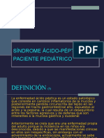 Sindrome Acido Péptico en Paciente Pediatrico