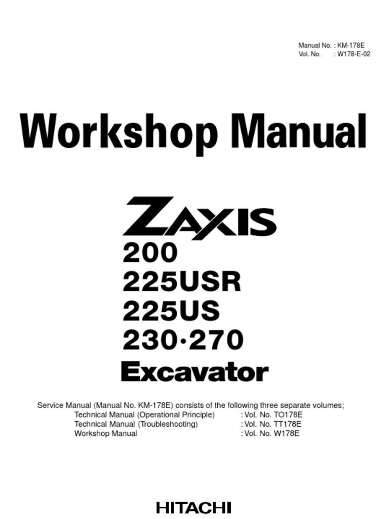 Manual de Taller Excavadora Hitachi Zx200-225-230-270