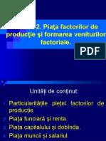 Tema 12. Piața Factorilor de Producție Și Formarea Veniturilor Factoriale.
