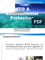 E. Bryan - WTO and Environmental Protection