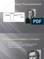 Efecto Seebeck (Termoeléctrico)