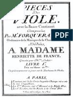 Forqueray - Pieces de Viole