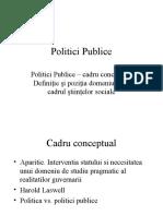 Politici Publice Curs 1