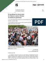 La Jornada_ Se Movilizan Los Burócratas de Tabasco Contra Reforma Al Sistema de Pensiones