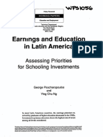 Earnings and Education in Latin America- George Psacharopoulus