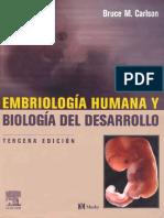Embriología Humana y Bioloíia Del Desarrollo - Carlson 3ed