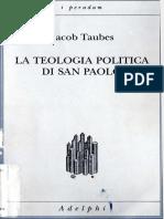 La Teología Política de San Pablo Taubes