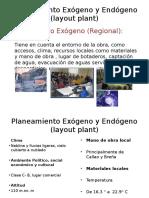 Planeamiento Exógeno y Endógeno (layout plant)