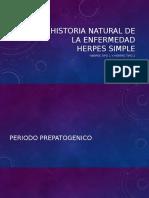 Historia Natural de La Enfermedad Herpes Simple