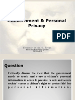 E. Bryan - Governance and Personal Privacy