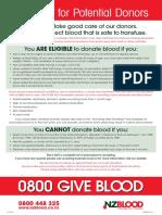 NZ Blood Checklist 2015