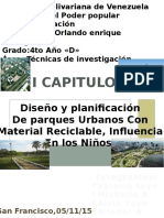 Diseño Y Planificación De Parques Urbanos Con Material Reciclable, Influencia En Los Niños.