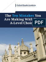 A-level Mistakes Guide Oxford Royale Academy