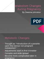 metabolism changes during pregnancy