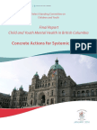 Select Standing Committee on Children and Youth - Final Report Child and Youth - Mental Health in British Columbia - Concrete Actions for Systemic Change