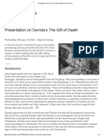 Presentation on Derrida's the Gift of Death