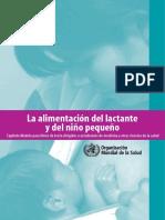 La Alimentacion Del Lactante y Del Nino Pequeno 2010 OMS