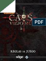 Caos en el Viejo Mundo libreto de reglas español