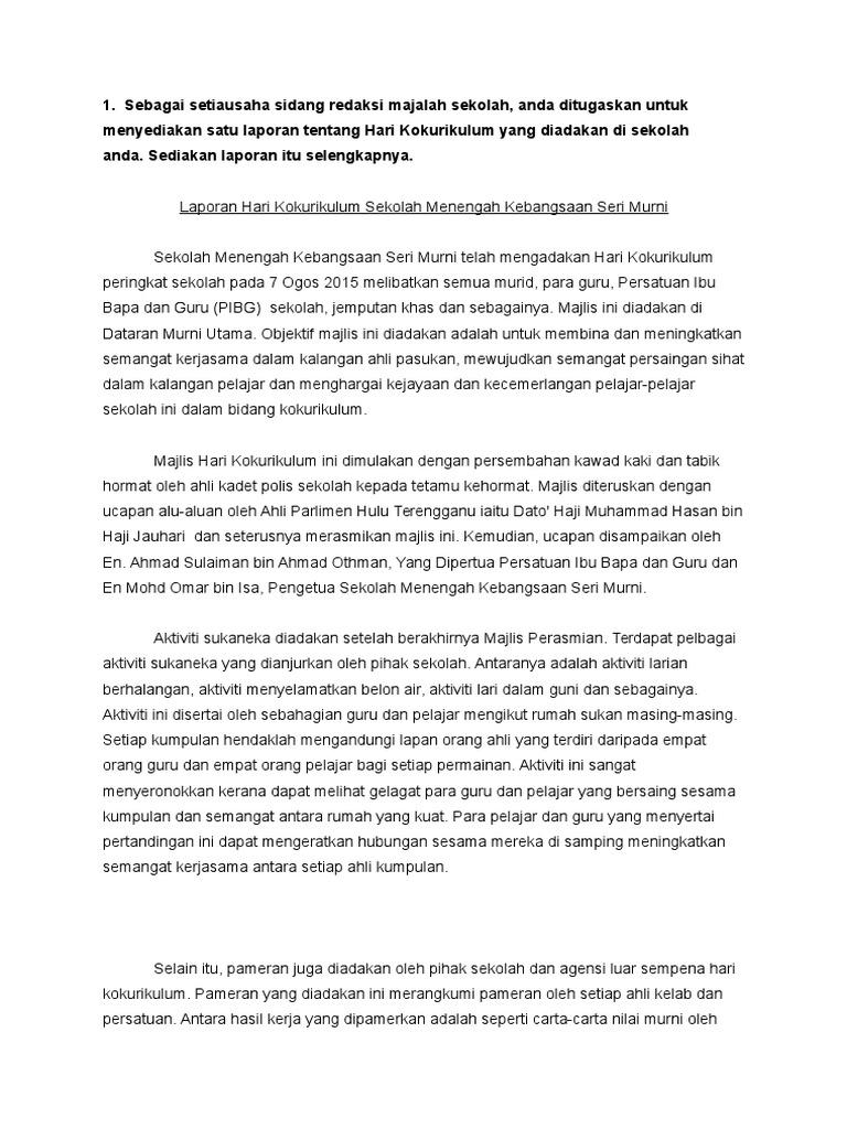 Contoh Karangan Aktiviti Kokurikulum Kerkosa