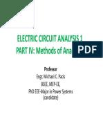 PART IV. Methods of Analysis I