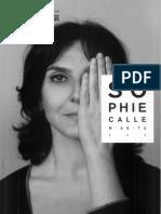 Sophie Calle -Dossier de Presse