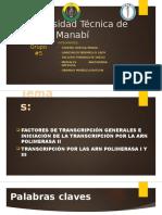 Exposición Grupo #5 Factores De Transcripción Generales  / Primer Parcial