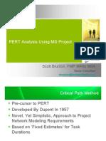 PERT AnalysisUsingMS Project