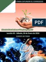 Lección 05 - Instrumentos Para Difundir El Evangelio