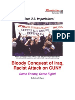 """Bloody Conquest of Iraq, Racist Attack on CUNY"", Revolution September 2003"