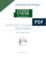 Selección y Evaluacion de Proveedores