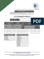 FGPF_030 – Lista de Componentes Propuestos