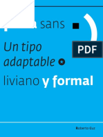 Tipografía Fedra Sans