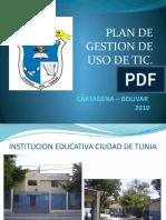 Plan de Gestion de Uso de Tic de la Institucion Educativa Ciudad de Tunja