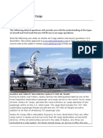 Air Cargo - Analysis of Cargo for Alaska Air