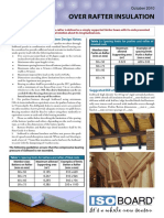 Over Rafter Thermal Insulation
