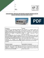 ECO-P3 Analizzatore Portatile IE