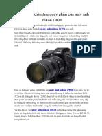Khám Phá Khả Năng Quay Phim Của Máy Ảnh Nikon D810
