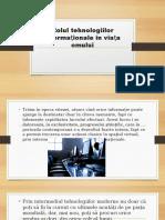 Rolul tehnologiilor informaționale