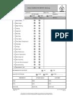 Visual Examination Report (Welding)