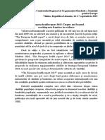 The European Health Report 2015