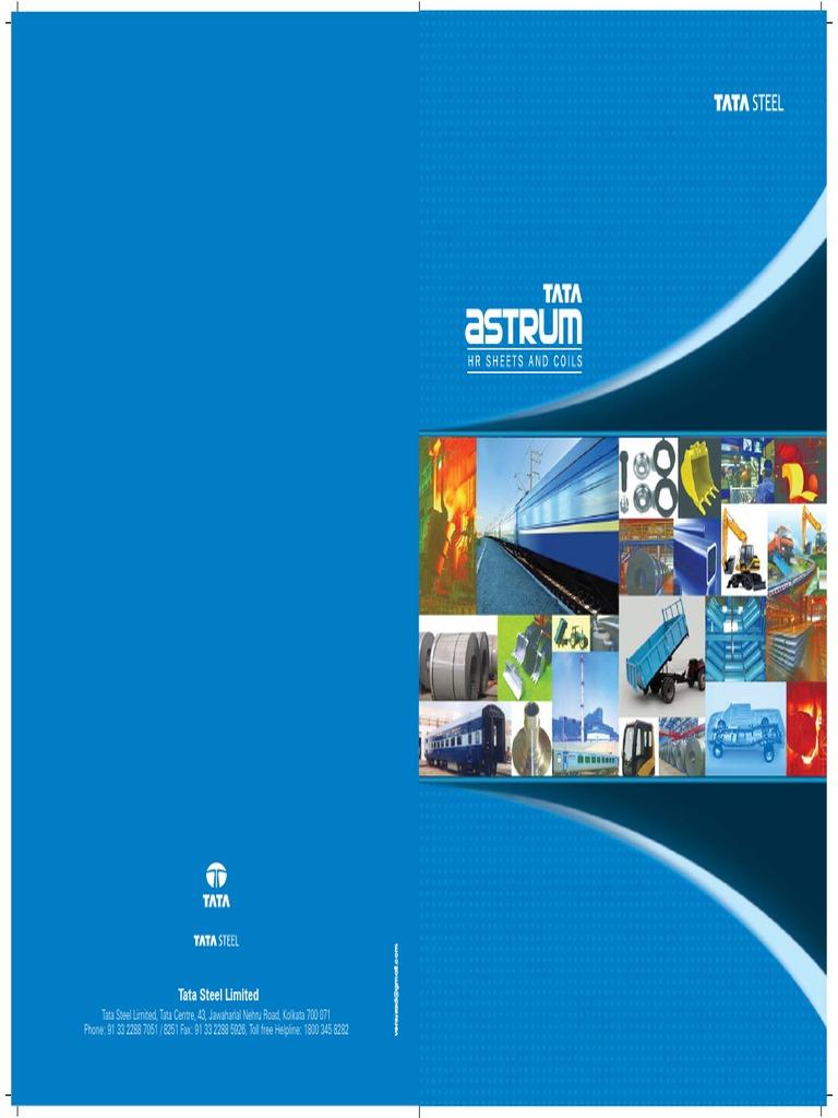 TATA Steel Catalogue | Rolling (Metalworking) | Sheet Metal