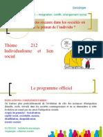 thème 212 - Individualisme et lien social.ppt