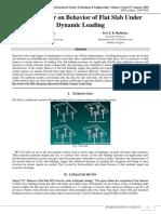 Review Paper on Behavior of Flat Slab under Dynamic Loading