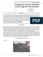 Performance of Geopolymer Concrete with Silica Fumes under Various Aggressive Environment