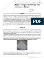 Optimization of Hypo Sludge Ash in Design Mix Concrete