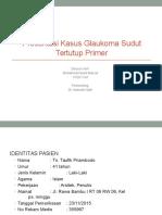 Presentasi Kasus Glaukoma Masud