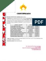 Certificado de Capacitacion de Personal