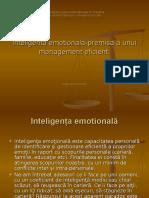 Inteligenta Emotionala Premisa a Unui Management Eficient