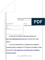 Sample Special Interrogatories for Divorce in California